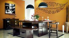 peinture salle manger 77 ides charmantes casa pinterest luminaires modernes chaises blanches et manger