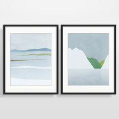 Moderne Abstrakte Wand Kunst Satz 2 Drucke Der Skandinavischen  Winterlandschaft. Einfach Neutrale Farben Passen Gut