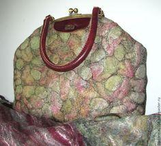 "Купить Сумка валяная ""Камушки 2"" - абстрактный, сумка женская, сумка валяная"