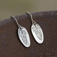 Collective Prairie smoke earrings, wildflower earrings, leaf earrings, flower earrings, silver earrings, dangle earrings, nature jewelry, PMC earrings METAL CLAY #AD botanical silver clay