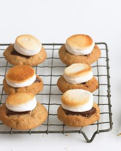 No fire necessary to create these gooey, chocolaty treats -- S'mores Cookies Recipe