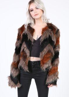 Festival Days Faux Fur Shaggy Jacket