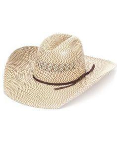 9ad743edc7 American Straw 007 Crease Cowboy Hat - Chocolate Ribbon