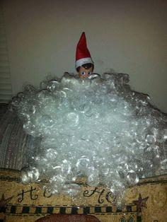 Elf thinks he is Santa!