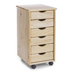 Zeller 13183 - Cajonera con ruedas (madera de pino, 34 x 39 x 65 cm)