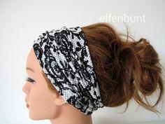 Haarband in Spitzenoptik ca. 12 cm  von  Maria Elfenbunt auf DaWanda.com