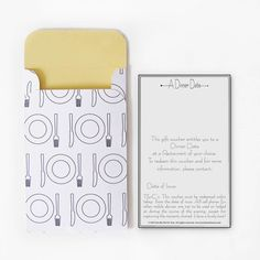 Dinner Date. DIY Quality Time Gift Voucher. Instant Download. on Etsy, $5.00 AUD