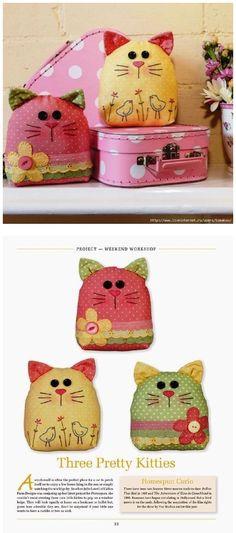 Eu Amo Artesanato: Almofada de gatinho