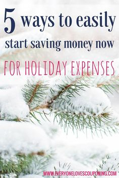 5 Ways To Start Saving Money Now For Holiday Expenses ELC