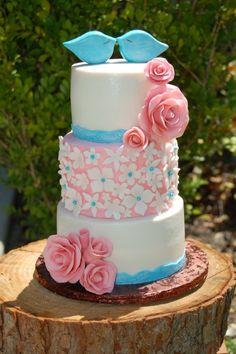 En rosa y turquesa - Свадебные торты розового цвета фотогаллерея | Модная свадьба