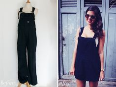 before and after overalls diy from a pair and a spare