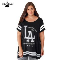 Misskoko Fashion Big Size Contracted Letters Printed T-shirts Summer Unisex Popular Logo Letters Sleeve Fatty Loosely  T-shirt #Affiliate