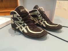 Asics Split Second Wrestling Shoes JY802 Black Silver White Size 9 #ASICS #WrestlingShoes