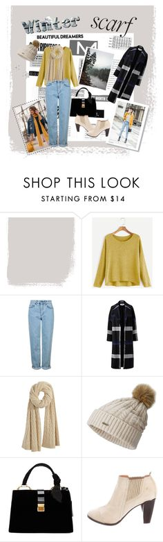 """Wintet Scarf Style"" by destisophia ❤ liked on Polyvore featuring MELLOW YELLOW, Topshop, Helene Berman, Calypso St. Barth, SOREL, Miu Miu, COSTUME NATIONAL and Talbots"