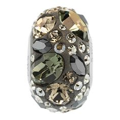 14mm Tuxedo Swarovski Crystal BeCharmed Pavé Medley Bead | Fusion Beads