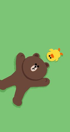 Line Friends Wallpaper Lines Wallpaper, Bear Wallpaper, Wallpaper Backgrounds, Iphone Wallpaper, Phone Backgrounds, Line Brown Bear, Airplane Wallpaper, Cute Bear Drawings, Friends Wallpaper