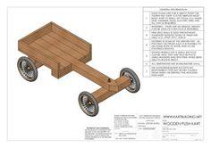 Kartbuilding: Wooden Go-Kart Plans Woodworking Workbench, Woodworking Projects Plans, Workbench Plans, Woodworking Shop, Woodworking Patterns, Woodworking Machinery, Woodworking Classes, Wooden Go Kart, Go Kart Kits