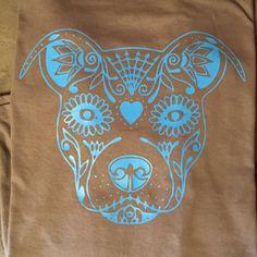 Sugar Skull Pitbull T-Shirt by EnchantedCreationsWE on Etsy