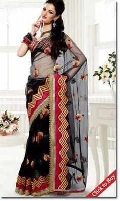 Indiaemporium-Heavenly-Black-Fancy-Cut-Designer-Saree