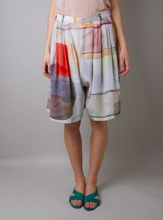 Comfort is underrated...Von Sono lightbox print silk culottes