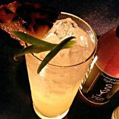 The Pineapple Express 1 1/4 oz. Roasted Jalapeno infused Espolon Tequila Blanco 1/2 oz. Licor 43 1/4 oz. Fidencio Mezcal Classico 1/4 oz. Fresh Lime Juice 3/4 oz. Pineapple Juice 1/3 oz. Sumptuous Lemon 3 Basil Syrup Dash of The Bitter End Thai Bitters Splash of Soda Water Grilled Pineapple/Jalapeno slice Garnish Combine in Shaker with Ice.  Shake Vigorously.   Strain into Ice Filled Collins Glass.  Splash of Soda Water.  Float Mezcal on top.  Grilled Pineapple / Jalapeno Garnish. @Don…