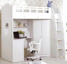 Bunk Bed Desk Dresser House Kids Bedroom Pinterest