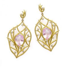 Laurie Kaiser Breeze Earrings in amethyst, diamonds and 18k gold. www.lauriekaiser.com