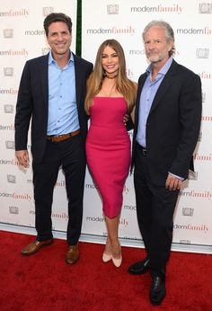 "Sofia Vergara Photos - Co-creator Steven Levitan, actress Sofia Vergara and co-creator Christopher Lloyd attend ABC's ""Modern Family"" ATAS Emmy Event at Fox Studios on May 2, 2016 in Los Angeles, California. - ABC's 'Modern Family' ATAS Emmy Event - Arrivals"