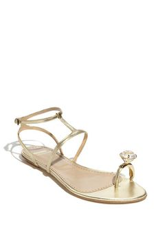 moschino cheap and chic engagement toe ring sandal