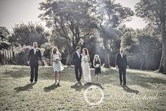 Wedding bridal party at Ohariu farm grounds. New Zealand #wedding #photography. PaulMichaels of Wellington http://www.paulmichaels.co.nz/