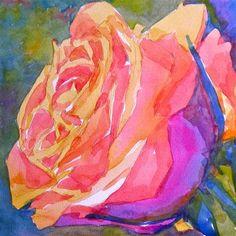 "Daily Paintworks - ""An orange rose"" by Jo MacKenzie"