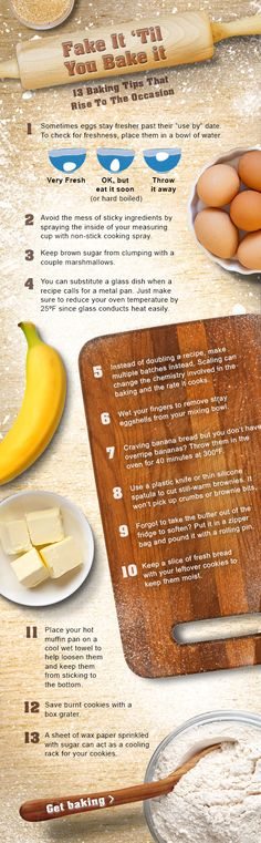 Baking Tips  - Fake It Till You Bake it.  -  13 Baking Tips That Rise to the Occasion from kraftcanada