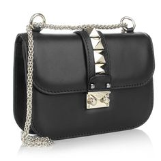 Valentino Rockstud Lock Shoulder Bag Small Pale Gold Black Gutschein Umfrage bei Fashionette