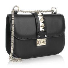 Valentino Rockstud Lock Shoulder Bag Small Pale Gold Black Gutschein Umfrage bei Fashionette