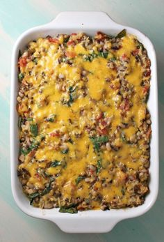 Tex Mex Black Eyed Pea Casserole #recipe