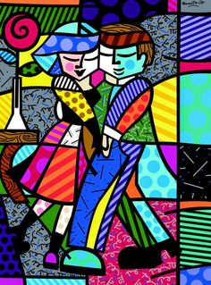 Find the latest shows, biography, and artworks for sale by Romero Britto. Celebrated for the vibrancy and optimism of his paintings, Romero Britto works in a… Pintura Graffiti, Graffiti Painting, Graffiti Art, Pop Art, Arte Pop, Tableau Design, Arte Country, Oeuvre D'art, Graphic