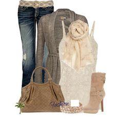 Winter fashion jeans