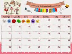 As Tontas Vão Ao Céu: Calendário Mensal 2015 - Organização das Moças