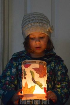 Simple Leaf Lanterns for Kids! Light up the fall months with this craft.