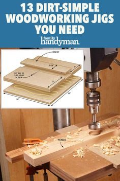 Woodworking Jig Plans, Woodworking Jigsaw, Woodworking Patterns, Easy Woodworking Projects, Drill Press Table, Scroll Saw Patterns Free, Carpentry Skills, Easy Wood Projects, Home Fix