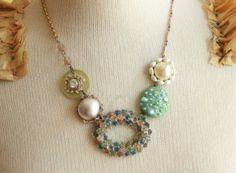sherbet ladies necklace @sweetshoppejewelrystore.com #handmadevintagejewelry