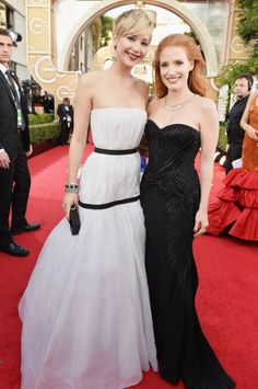 Jessica Chastain & Jennifer Lawrence