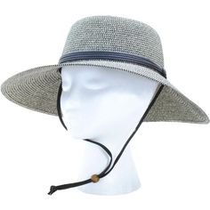 dc583d7e5c712 Sloggers Women s Wide Brim Braided Sun Hat with Wind Lanyard - Sage - Rated  UPF Maximum Sun Protection Rated UPF Maximum Sun Protection Includes high  ...