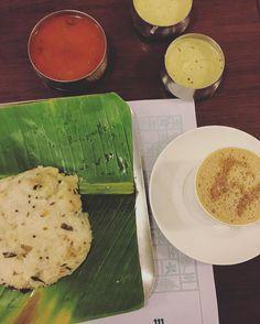 The classic southindian breakfast. #eatoutdevout  Tags:  #breakfast #southindian #southindianfood #filtercoffee #bangalorefood