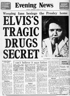 The newspapers the day Elvis died - 18