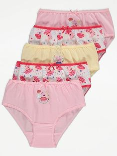 Lasten Pipsa Possu alushousut Peppa Pig, Asda, Girls, Bikinis, Swimwear, Pink, One Piece, Cotton, Shopping