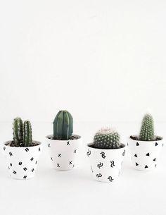 DIY- Mini Patterned Plant Pots
