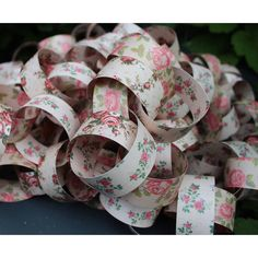 Rose Paper Chain Garland