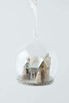 Heaven & Hearth Snow Globe, White