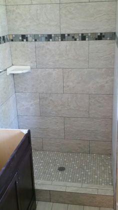 Horizontal Tile Brick Pattern Shower Work